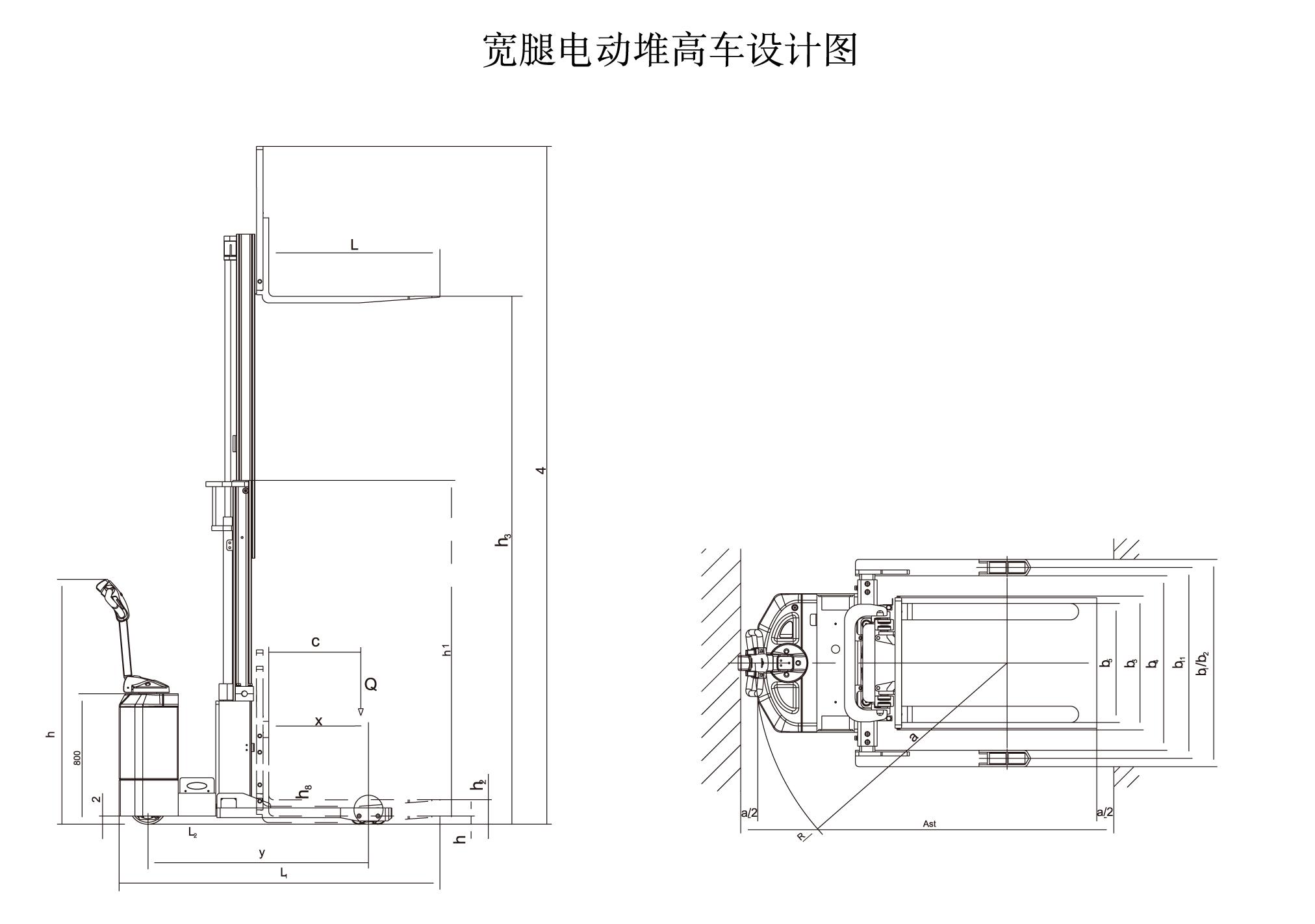 全电动堆高车设计图_半电动堆高机工作原理图